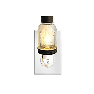 Autumn Alley Rustic LED Mini Mason Jar Night Light Auto On/Off Sensor nightlight