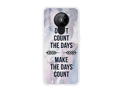etuo Hülle für Nokia 5.3 - Hülle Fantastic Hülle - Berechne Tage Nicht Handyhülle Schutzhülle Etui Hülle Cover Tasche für Handy