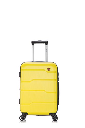 DUKAP Luggage - Rodez Collection - Lightweight Hardside Spinner 20'' inches carry-on Yellow - Suitcases with Wheels