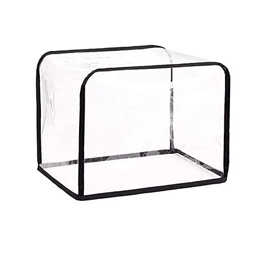 Cubierta de tostadora transparente, piezas y accesorios de la máquina de pan, material de nylon impermeable, diseño plegable, 11.8 × 9.4 × 9.4 pulgadas