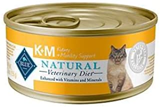 Blue Natural Veterinary Diet K+M Kidney + Mobility Support Grain-Free Canned Cat Food 12/5.5 oz