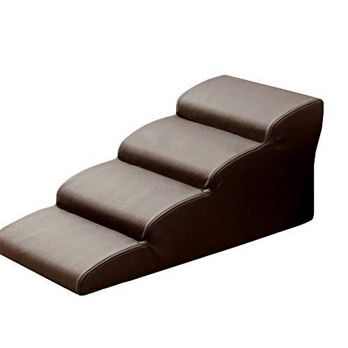 JXQ - Escaleras ligeras para perros de tamaño mediano o grande para cama o sofá, rampa de escalera portátil con escalones anchos (tamaño : 4 pasos (altura 40 cm)