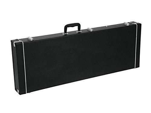 Maleta de guitarra TRAGGER para bajos eléctricos, madera / PVC rectangular, negro...