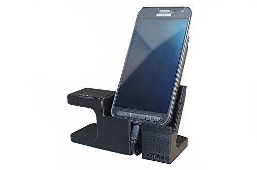 Artifex Design Stand Configured for ASUS ZenWatch 2 Stand, Smartwatch Charging Cradle (Combo)