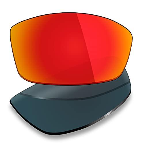 Mryok Lentes de repuesto para Arnette Rage AN4025 - Opciones, Polarizado - Rojo Fuego, Talla única