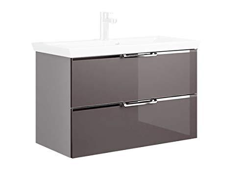 PELIPAL Trentino 770/800 Waschtischunterschrank/Glas Grau & Weiß / 75 x 51 x 49 cm