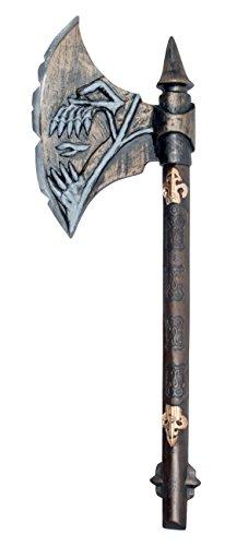 Arma in plastica Skull Axe 68 cm Occasioni Halloween, Horror Night, Medieval Party, feste a tema, spettacoli, saggi, recite, gdr, rpg, larp, cosplay