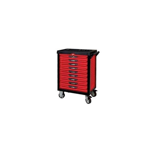 KS Tools 809.9241 Pearlline gereedschapswagen, 9 laden, met 241 gereedschap, rood