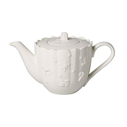 Villeroy & Boch - Toy's Delight Royal Classic cafetière, théière en porcelaine pour 6 personnes, blanche, adaptée au lave-vaisselle, 1 l