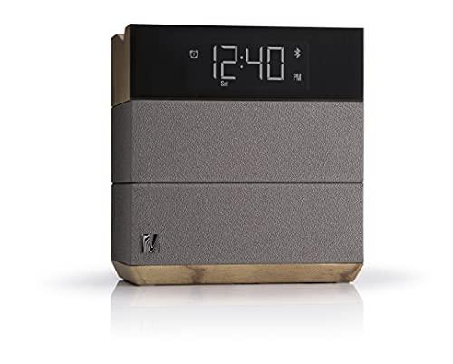 Radio-réveil FM de chevet Sound Rise de Soundfreaq, avec Bluetooth, port de chargement rapide USB, haut-parleurs et écran à rétroéclairage réglable, compatible iPhone et Android.