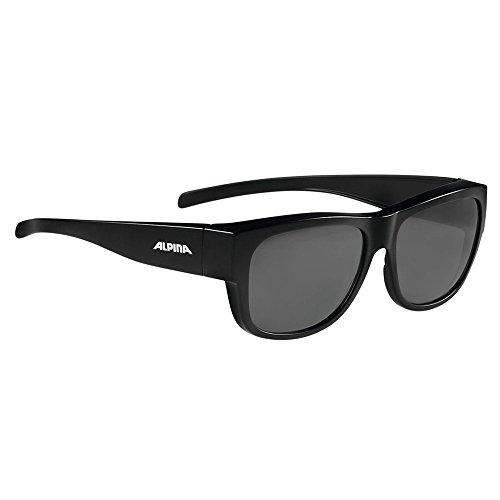 ALPINA Sonnenbrille Overview II P polarisiert verspiegelt schwarz +Flicken