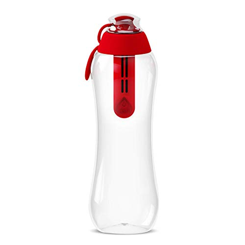 Bouteille filtre sport rouge DAFI 500 ml
