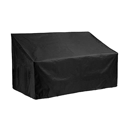 Silvotek Funda Banco Jardin de 3 plazas - Impermeable Fundas para Bancos de Jardin con Material Oxford 210D Duradero + Recubrimiento de PVC Extra, Cubierta para Banco de jardín - 162x66x89cm