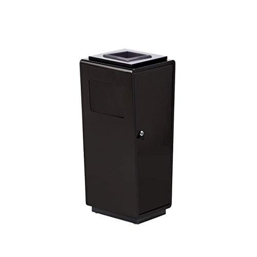 LUNAH Moderno y Simple Cubo de Basura de Acero Inoxidable Cubo de Basura Grande Diseño de Cerradura de Puerta Lateral Vestíbulo del Hotel Centro Comercial Cubo de Basura (Color: B-Oro Rosa)