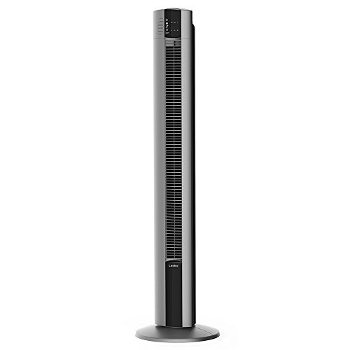 """Lasko Portable Electric 48"""" Oscillating Tower Fan with Fresh Air Ionizer, Timer and Remote Control for Indoor, Bedroom and Home Office Use, Gray T48310"""