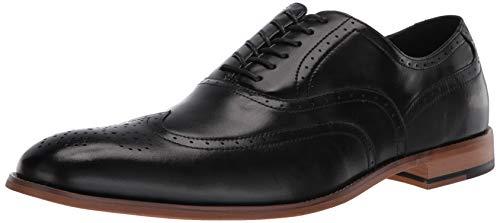 STACY ADAMS Men's Dunbar-Wingtip Oxford, Black, 10