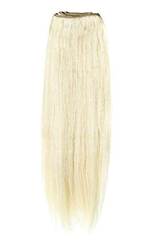 American Dream Remy 100% cheveux humains 35,6 cm soyeuse droite Trame Couleur 22/60/613 – Blond Plage/Blond Pur/Blond Crème