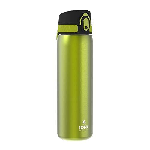 Ion8 Borraccia Termica 500 ml Acciaio Inox, Senza Perdite, Verde