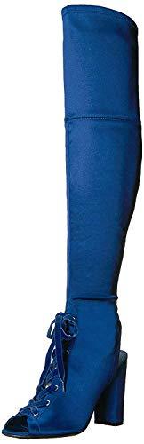 Guess Mujeres Botas, Blue Satin, Talla 6