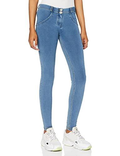 Freddy Pantalón WR.UP® superskinny de Talle y Largo estándar en Punto de Denim Claro - Jeans Borrar-Costuras Amarillo - Small