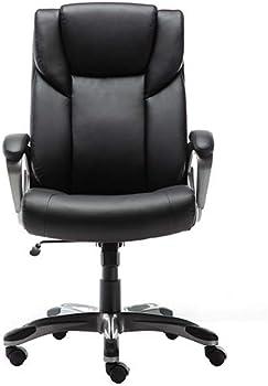 Amazon Basics High-Back Bonded Leather Executive Computer Desk Chair