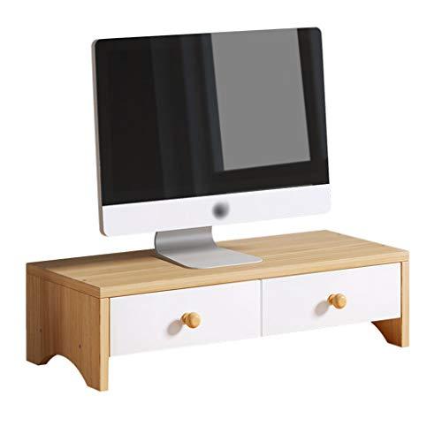 Soporte para Monitor con cajón, Soporte para Monitor de computadora de Escritorio para el hogar, Adecuado para PC y portátil