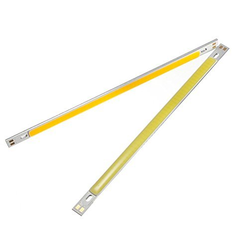 2 stuks Slim COB LED-strips, 10 W, 12-24 V, zuiver/warm wit, 1000 lm, voor tafellamp DIY