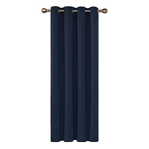 Deconovo Cortinas de Salón para Ventana de Habitación con Aislamiento Térmico Anti Ruido 1 Pieza con Ojales 140 x 240 cm Azul Marino