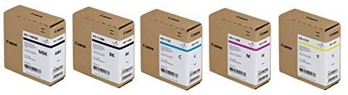 Price comparison product image Canon PFI-110 Pigment Ink Tank Kit (Matte Black,  Black,  Cyan,  Magenta,  Yellow) in Retail Packaging
