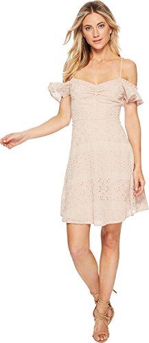 ASTR the label Damen Mackenzie Off Shoulder Eyelet Mini Dress Freizeitkleidung, Pale Mauve, Mittel