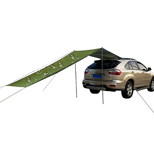 HIMAPETTR Car Awnings, Portable Tent Car, Beach Tent, Pu2000, Lightweight Waterproof Durable Tear Resistant, Driving, Camping, Travel, Fishing, Picnic, 5-6 Persons, Cars, Suv,Green