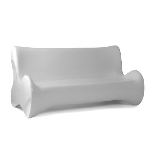 Vondom Doux - Sofá de dos plazas, color blanco mate