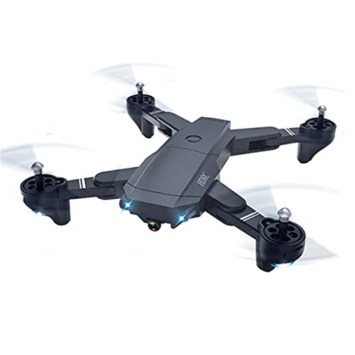 J-Clock Dron 4k, Dron Plegable, Transmisión en Vivo WiFi FPV, Modo Espera, Tiempo Vuelo 18 Minutos, Mantener la altitud, para Principiantes
