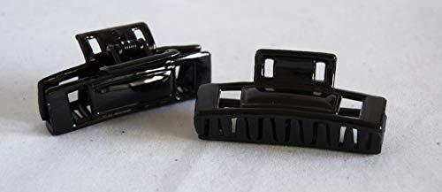 Lot de 2 pinces rectangulaires de 6 cm. Livraison GRATUITE 72h (noir)