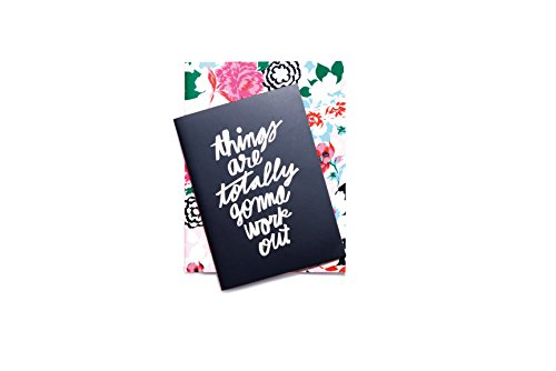 ban.do design Good Ideas Notebook Set - Florabunda + Things Are Totally Gonna Work Out (53311)