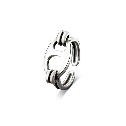TYUJ Open Ring For Women,Elegant Cute Pig Nose Ring Unisex Adjustable 925 Sterling Silver Jewelry Gifts For Weddings Prom Birthday Anniversary Promise