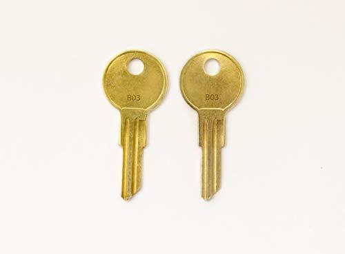 B01 B02 B03 B04 B05 Pair of 2 - Husky Keys New Keys for Husky Tool Box Home Depot Toolbox Replacement Key pre Cut to Code by keys22 (B03)