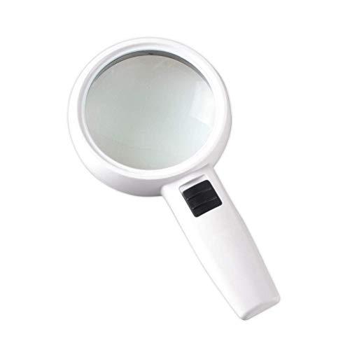 aipipl Portátil con 3 Luces LED Brillantes, una Lupa, una Lupa de Mano de Alta definición de 30 aumentos, una Lente Grande de 110 Mm, Ideal para Leer un Mapa en Letra pequeña para Comprobar el bril