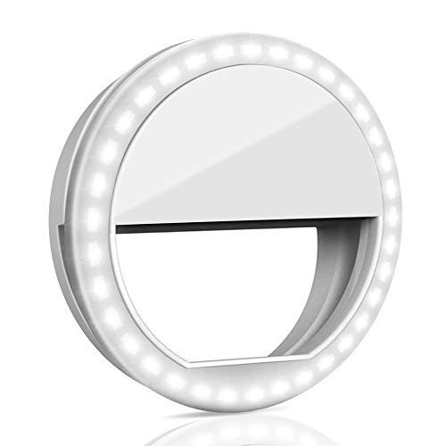 Selfie Ring Light, QIAYA Portable Clip Selfie Light with 36 LED for Smart Phone Photography, Camera Video