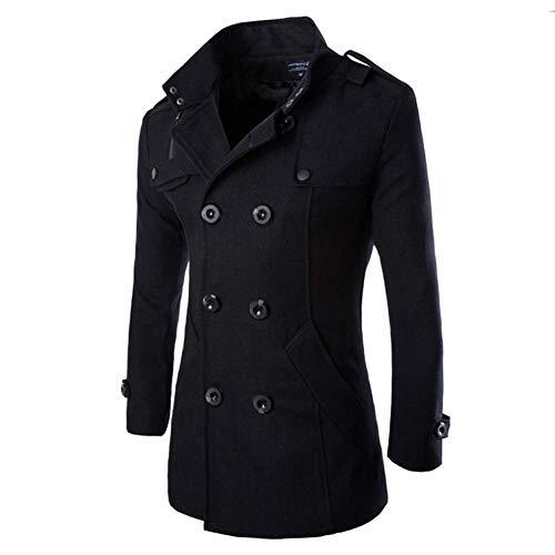 Sabarry Herren Mantel Slim Fit Wollmantel Zweireiher Kurz f¨¹r Herbst Mantel warm Winter Jacke.
