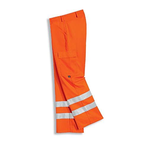 Uvex 8894 werkbroek - waarschuwingsbeschermbroek voor heren - oranje - maat 56