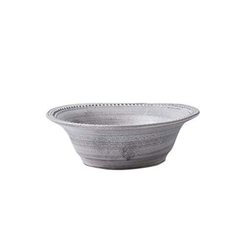 GUONING-L Bol, Plato de Sopa de cerámica Plato Plato Plato de Fruta Original, Casa
