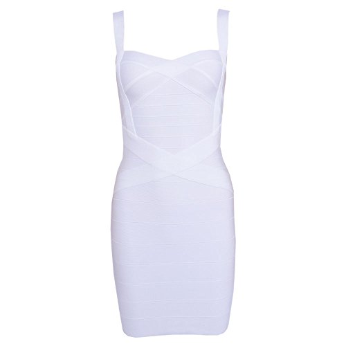 HLBandage Spaghetti Strap Women's Rayon Mini Bodycon Bandage Dress