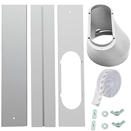 FFXWTSF Portable AC Window Kit, Air Conditioner Window Kit with Coupler Adjustable Window Seal Suitable for 5.9'/15cm Hose