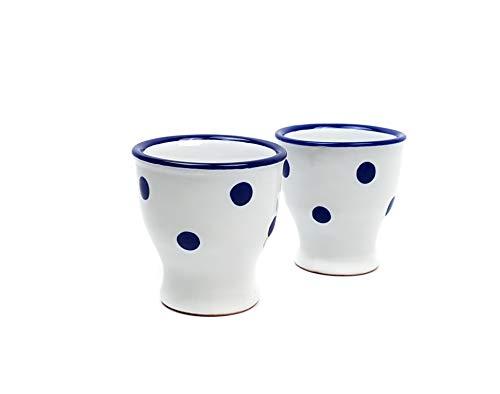 Lot de 2 Eddingtons sage en terre cuite egg cups cuisine traditionnelle