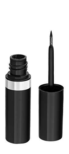 Eyeliner–Delineador de Ojos Color Negro|Aloe Vera + Aceite de Almendras + Camelia| Líquido negro intenso| Cosmética Ecológica y Natural| Maquillaje Apto para Veganos - Geoderm