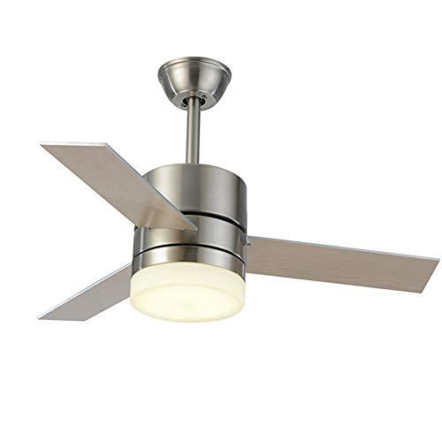 LED invisible ventilador de techo luz, moderna Ventilador de techo Lámpara de techo con luz Y mando a distancia ventilador Luz de Techo-aspas Reversibles Plafones dormitorio Iluminación de techo