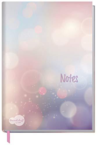 Trendstuff Notizbuch A5 kariert [Bubbles] als Tagebuch, Bullet Journal, Ideenbuch, Skizzenbuch | stylish, robust, biegsam, abwischbares Cover