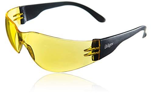 Dräger X-pect 8312 Gafas de Seguridad | Lentes de protección Rayos UV antivaho | Patillas Planas |para Industria, Deporte, Laboratorio | 1 Gafa