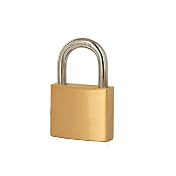 "Heavy Duty Solid Brass Padlock with Key ,Key Lock with 2"" 50mm  Wide Lock Body,Padlock Outdoor for Sheds Storage Unit ,School Gym Locker Toolbox Hasp Storage…"